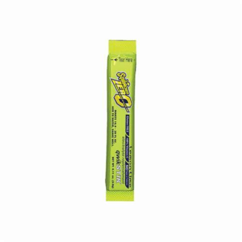 Sqwincher® 060106-LL Qwik Stik™ Zero Sugar Free Sports Drink Mix, 0.11 oz Pack, Powder, 20 oz Yield, Lemon Lime