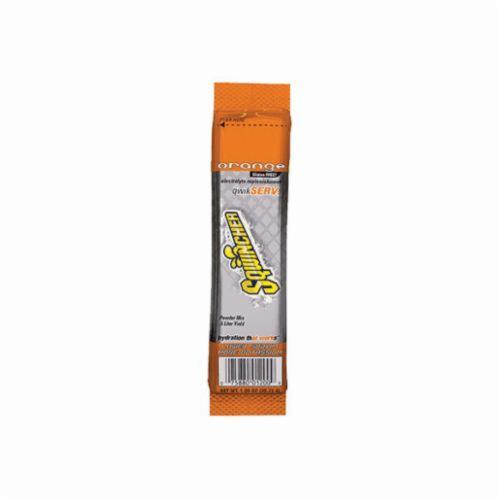 Sqwincher® 060900-OR QwikServ™ Dry Mix Sports Drink Mix, 1.26 oz Pouch, Powder, 16.9 oz Yield, Orange