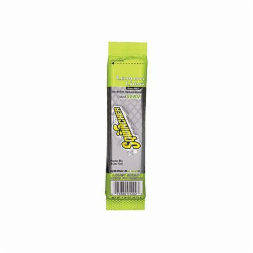 Sqwincher® 060902-LL QwikServ™ Dry Mix Sports Drink Mix, 1.26 oz Pouch, Powder, 16.9 oz Yield, Lemon Lime