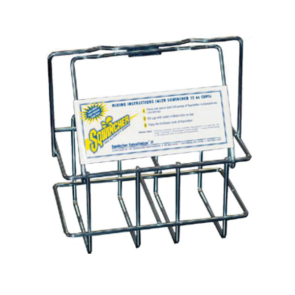 Sqwincher® 600101 Servastation Basket, For Use With Sqwincher 64 oz Liquid Concentrate Drink Mix, Steel, Silver