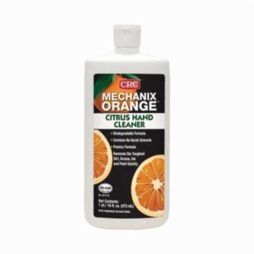 Sta-Lube® SL1712 Mechanix Orange Biodegradable Hand Cleaner With Pumice, 16 fl-oz, Bottle, Lotion, Citrus, White