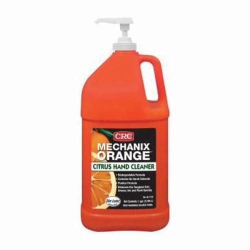 Sta-Lube® SL1719 Mechanix Orange Biodegradable Hand Cleaner With Pumice, 1 gal, Bottle, Lotion, Citrus, White
