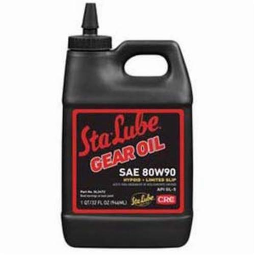 Sta-Lube® SL2472 API/GL-5 Plus New Generation™ Heavy Duty Limited Slip Non-Flammable Gear Oil, 32 oz Bottle, Mild Petroleum, Liquid, Dark Amber