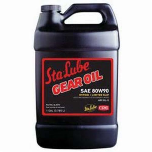 Sta-Lube® SL2473 API/GL-5 Plus New Generation™ Heavy Duty Limited Slip Non-Flammable Gear Oil, 1 gal Bottle, Mild Petroleum Odor/Scent, Liquid Form, SAE 80W901 Grade, Dark Amber