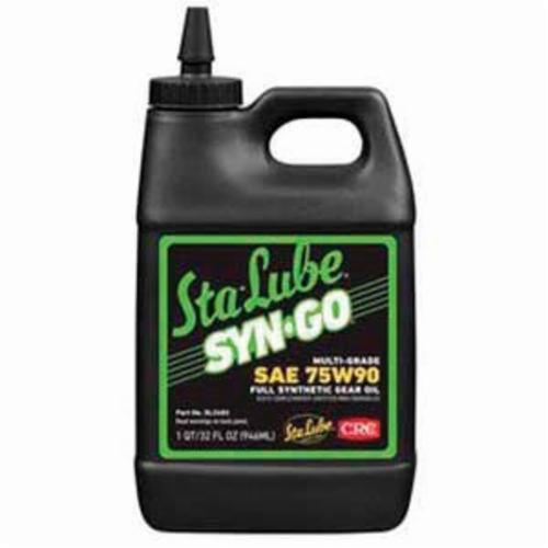 Sta-Lube® SL2482 Syn-Go® Combustible Multi-Grade Synthetic Gear Oil, 32 oz Bottle, Light Petroleum Odor/Scent, Liquid Form, SAE 75W90 Grade, Clear/Yellow