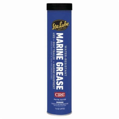 Sta-Lube® SL3120 Non-Flammable Bearing Grease, 14 oz Cartridge, Semi-Solid to Solid Grease, Blue, 0 to 325 deg F