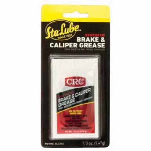 Sta-Lube® SL3302 Non-Flammable Synthetic Brake and Caliper Grease, 5 cc Carded Tube, Semi-Solid Grease, Black, Faint/Mild