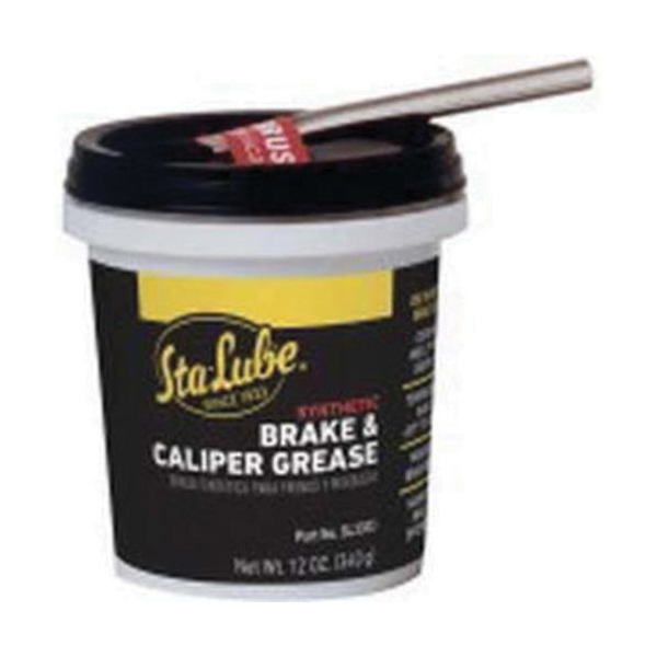 Sta-Lube® SL3303 Non-Flammable Synthetic Brake and Caliper Grease With Brush, 12 oz Tub, Semi-Solid Grease, Black, Faint/Mild