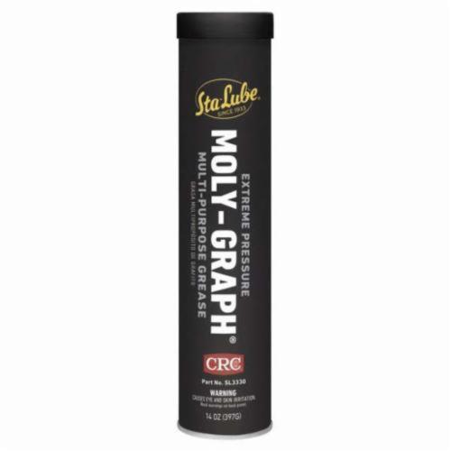 Sta-Lube® SL3330 Moly-Graph® Extreme Pressure Multi-Purpose Non-Flammable Grease, 14 oz Cartridge, Semi-Solid to Solid Grease Form, Dark Gray
