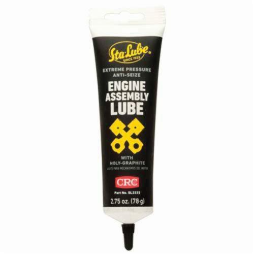 Sta-Lube® SL3333 Anti-Seize Extreme Pressure Non-Flammable Engine Assembly Lubricant, 2.75 oz Tube, Semi-Solid to Solid Grease, Black, 0.9