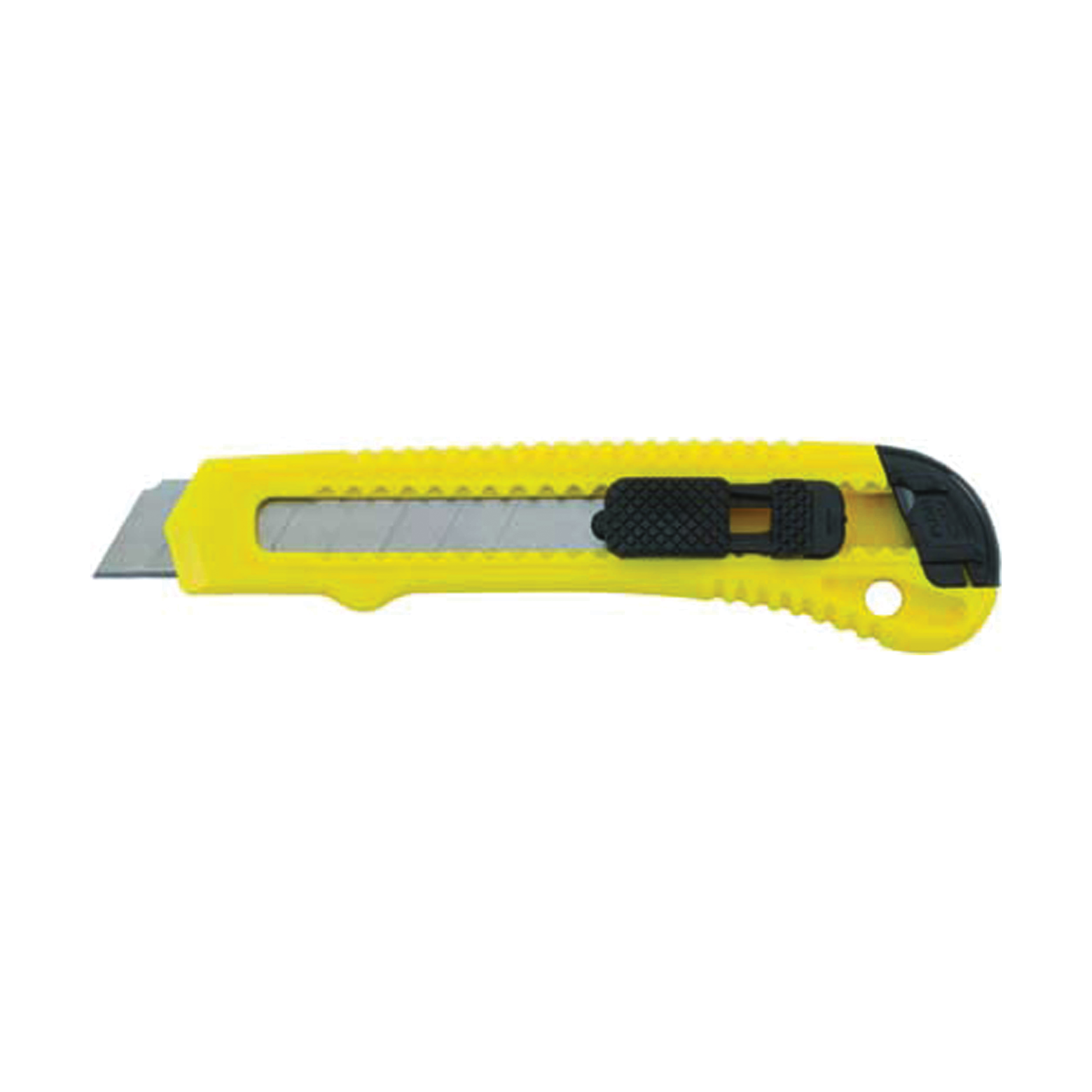 Stanley® Quick-Point™ 10-143P Light Duty Utility Knife, 18 mm W Retractable/Single Edge/Snap-Off Blade, 1 Blade Included, Carbon Steel Blade, 18 mm OAL