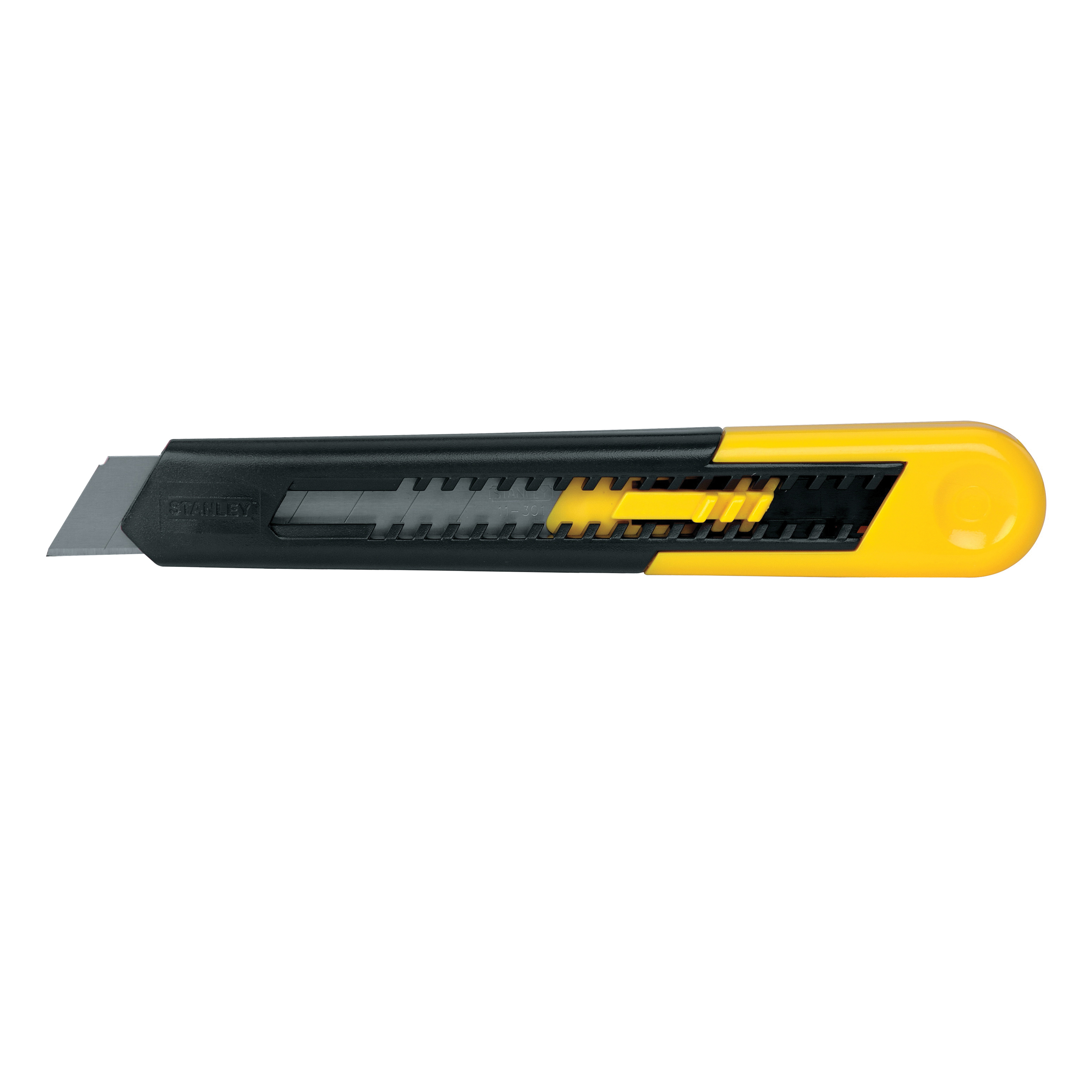 Stanley® Quick-Point™ 10-151 Light Duty Utility Knife, 18 mm W Snap-Off Blade, 1 Blade Included, High Carbon Steel Blade