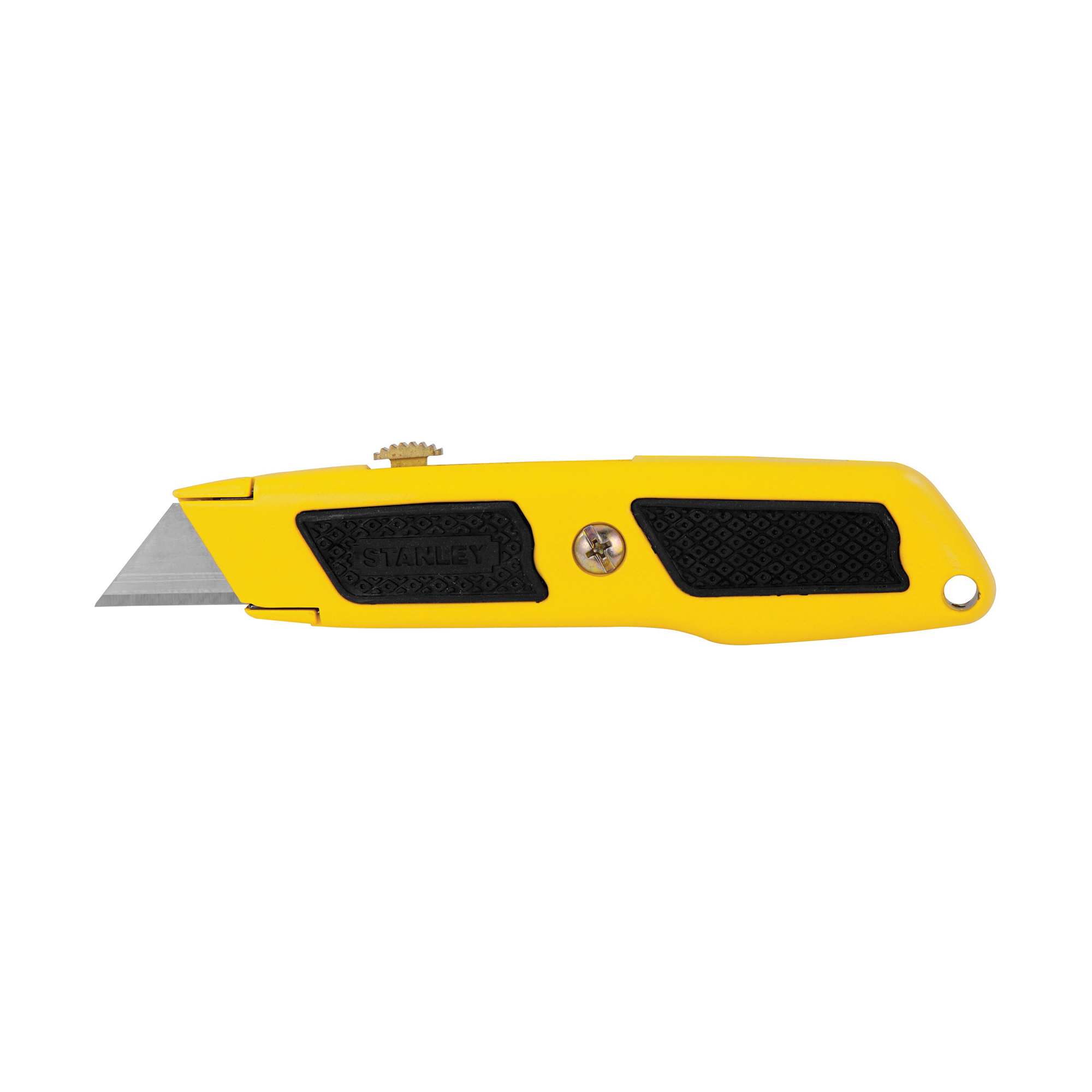 Stanley® Dynagrip® 10-779 Utility Knife, Retractable Blade, 3 Blades Included, Carbon Steel Blade