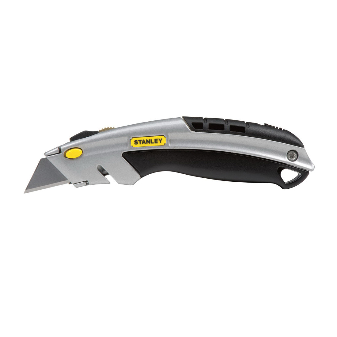 Stanley® InstantChange™ 10-788 General Purpose Heavy Duty Utility Knife, 3 in W Retractable Blade, 3 Blades Included, High Carbon Steel Blade, 8-1/2 in OAL