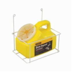 Stanley® 11-081 Blade Disposal Container With Metal Wire Rack, 2 qt, 6-5/8 in L x 9-1/2 in W x 9-3/16 in H, Plastic, Yellow