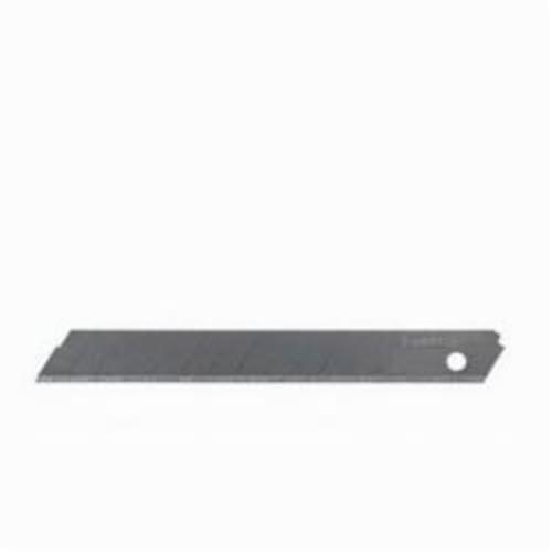 Stanley® Quick-Point™ 11-325T Super Heavy Duty Utility Blade, Snap-Off, Sharp Point, 5-7/16 in L x 0.027 in W, Compatible With 25 mm Snap-Off Blade Knife and 4FE34 Utility Knife, 0.027 in THK, High Carbon Steel