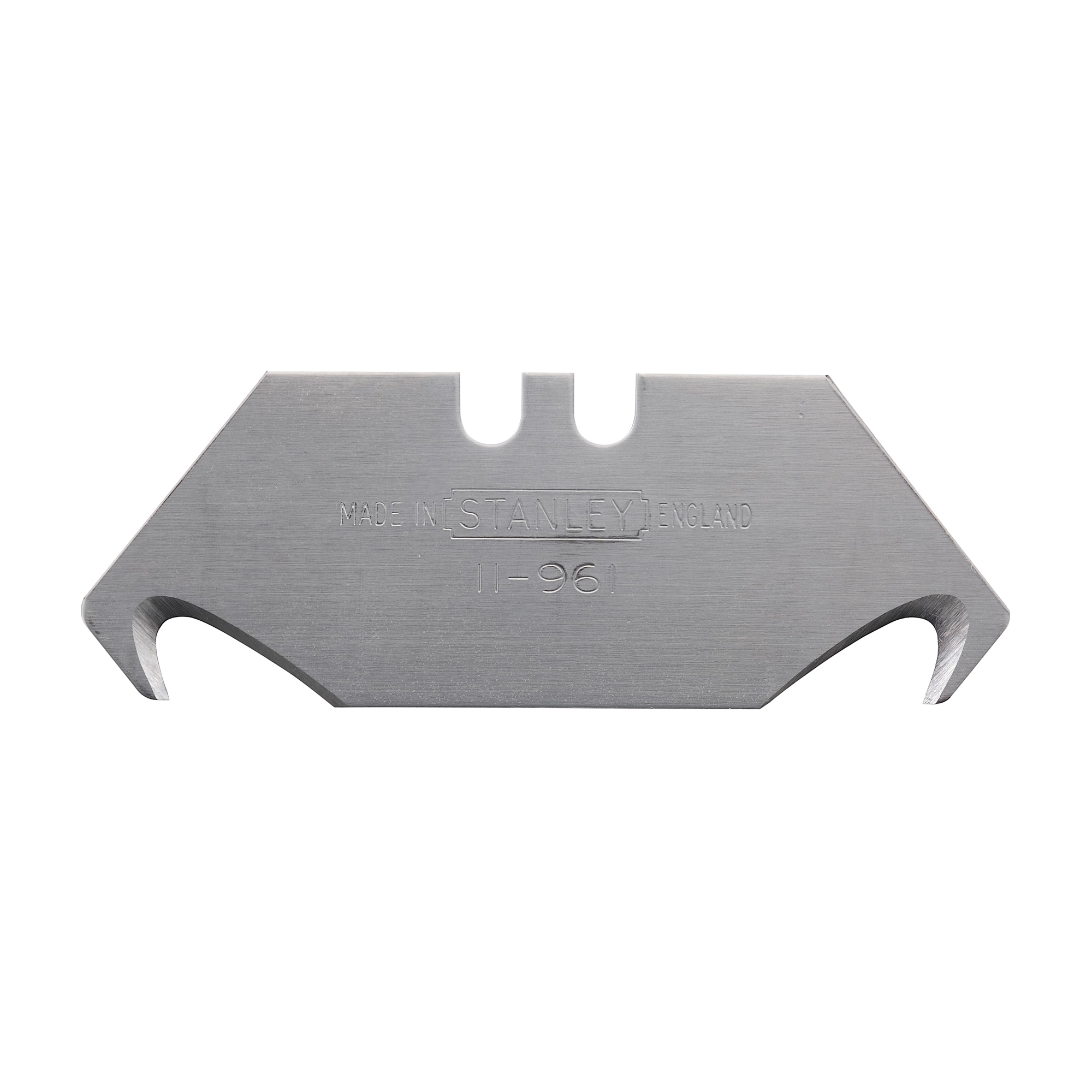 Stanley® 11-961 Regular Hook Utility Blade, Hook, 2-1/16 in L x 3/4 in W, Compatible With 1EZ81, 1UK24, 1UK33, 2TJ73, 3CA88, 3MK81, 3PY48, 3Q020, 4A803, 5C947, 10-550, 5C944, 5C945, 5C947, 5C948, 5R675, 5R682, 5TG43, 3Q021, 4YR09 and 5MW90 Utility Knife