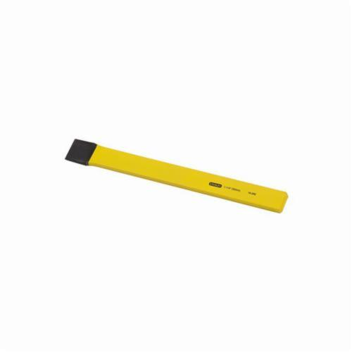 Stanley® 16-292 Utility Cold Chisel, 1-1/4 in Flat Chrome Vanadium Steel Tip, 12 in OAL, 1-1/4 in W Blade