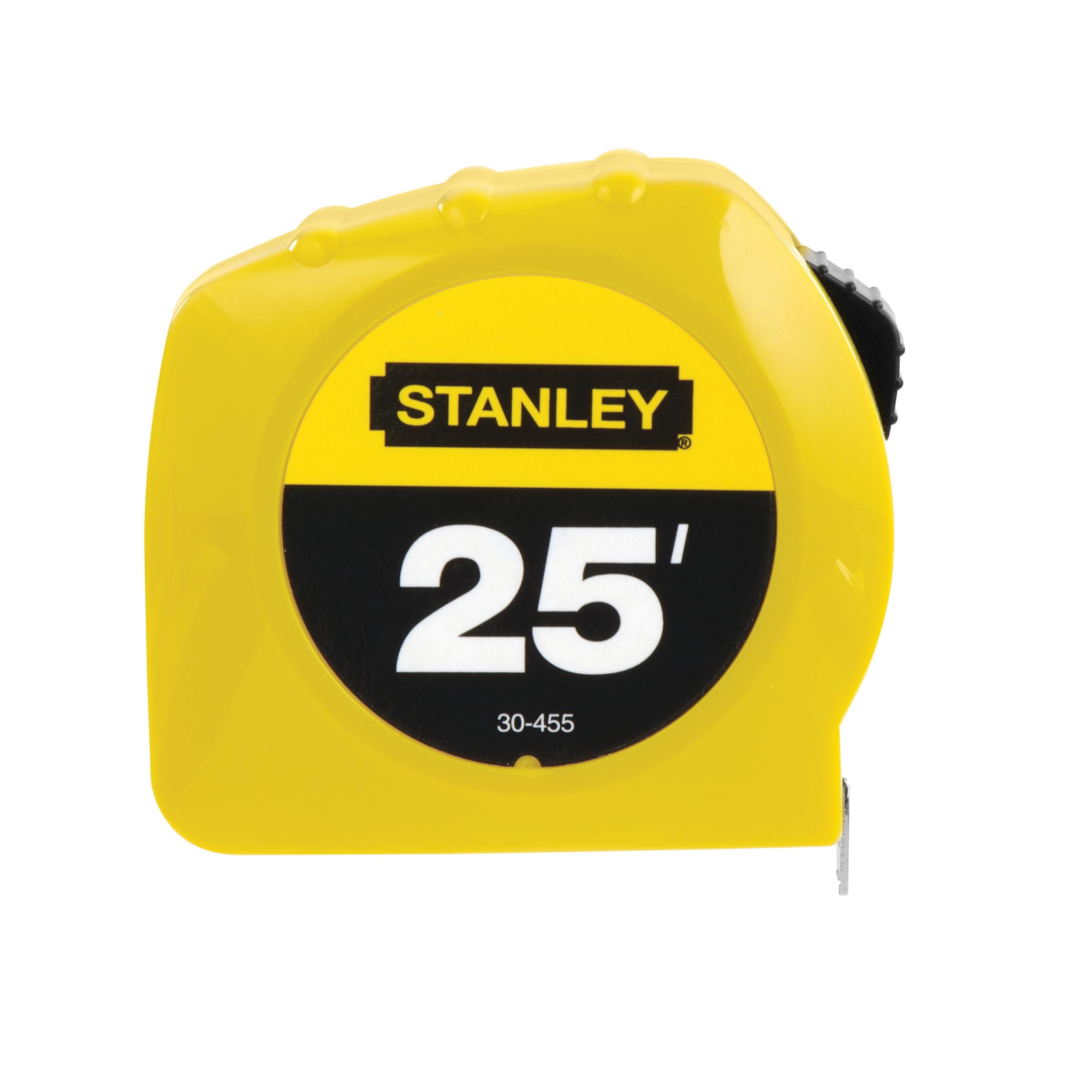 Stanley® 30-455 Tape Rule, 25 ft L x 1 in W Blade, Polymer Coated Steel, Imperial