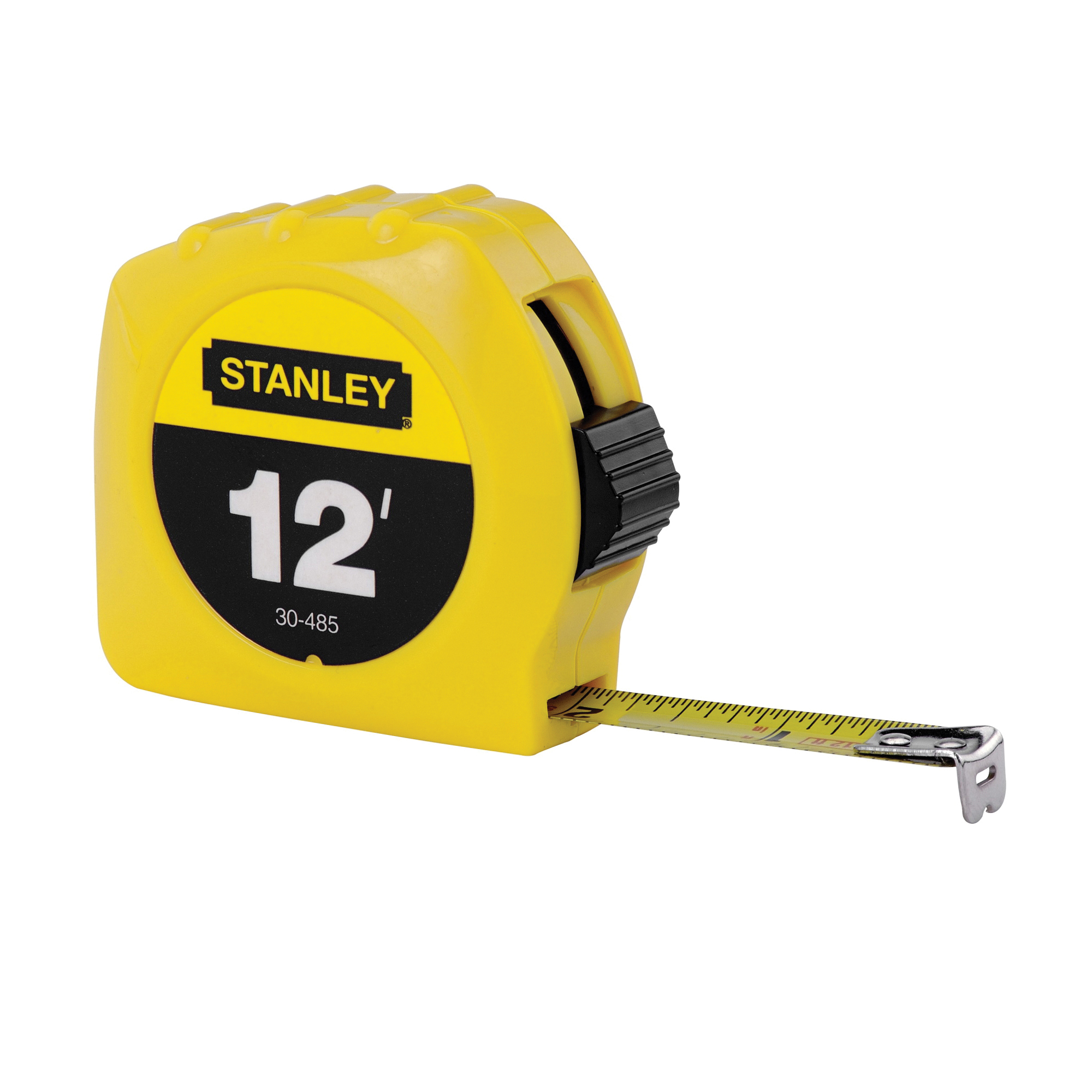 Stanley® 30-485 Tape Rule, 12 ft L x 1/2 in W Blade, Polymer Coated Steel, Imperial