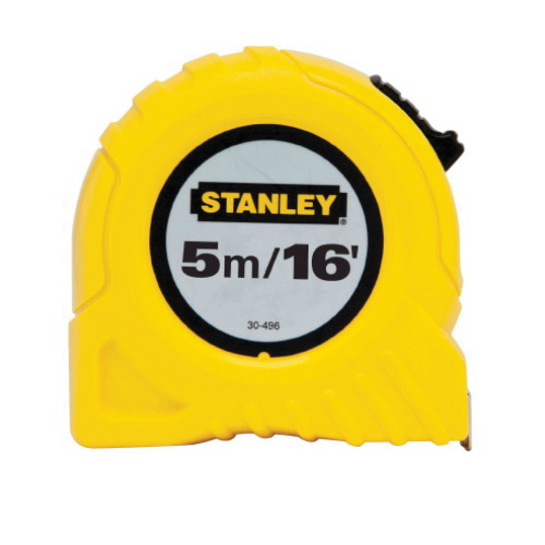 Stanley® 30-496 Tape Rule, 16 ft L x 3/4 in W Blade, Polymer Coated Steel, Imperial/Metric, cm