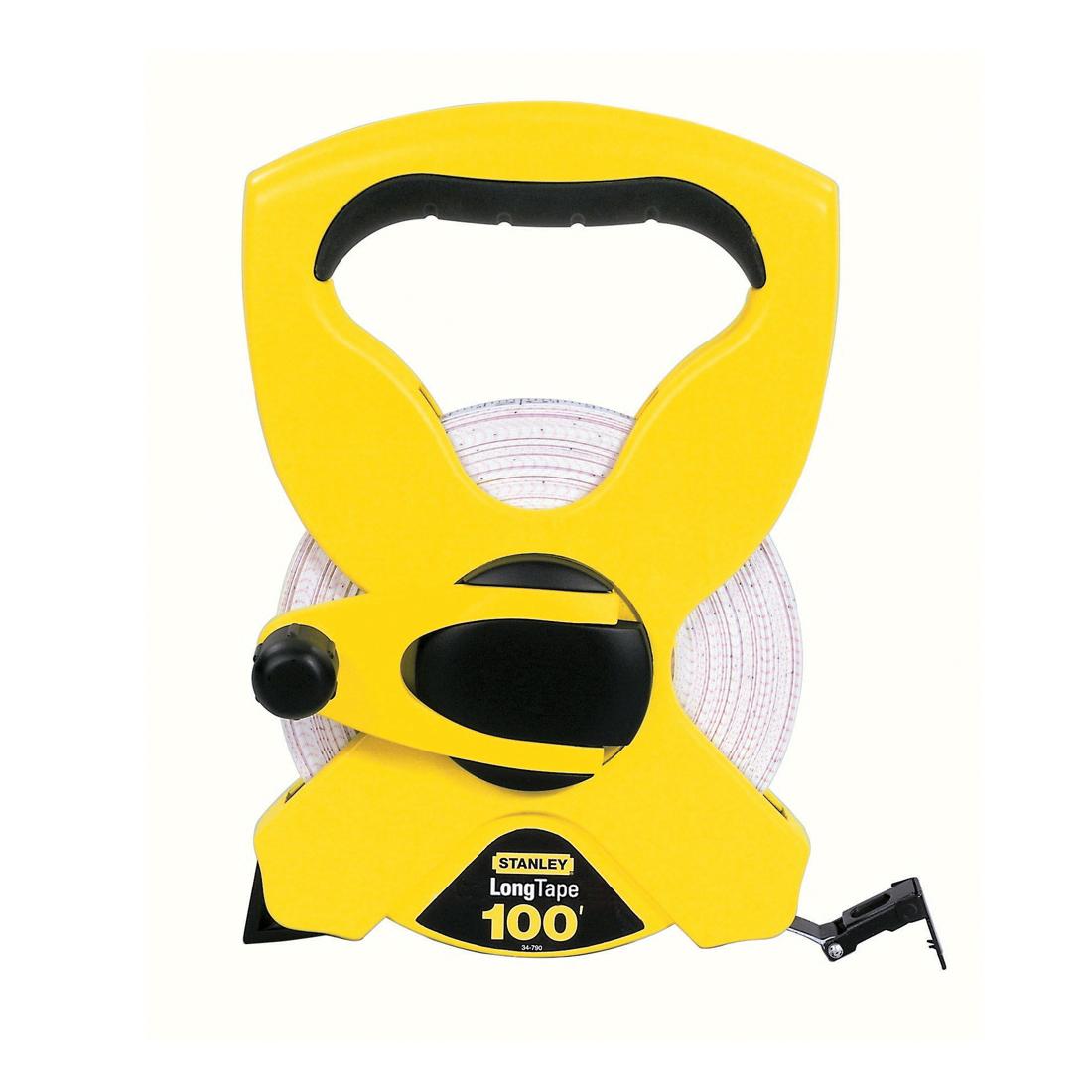 Stanley® Contractor Grade™ 34-790 Long Open Reel Tape Rule, 100 ft L x 1/2 in W Blade, Polymer Coated Fiberglass, Imperial