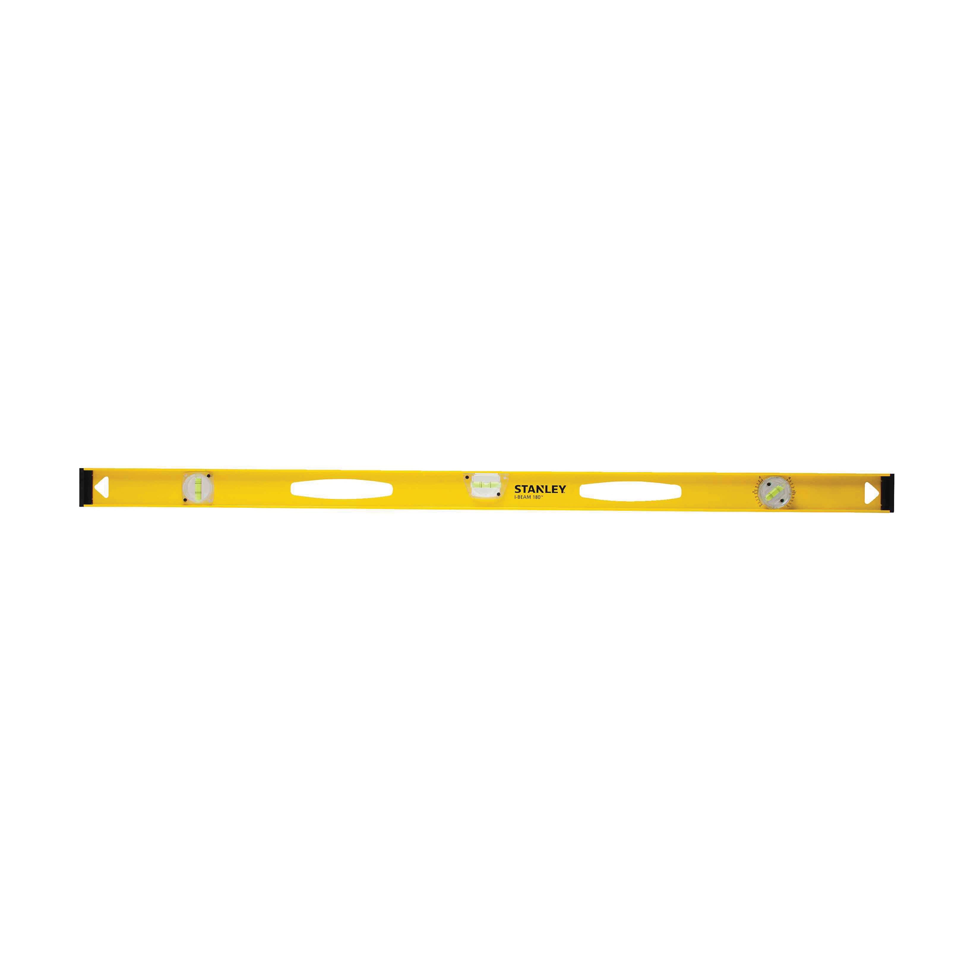 Stanley® 180™ 42-324 Heavy Duty Non-Magnetic Standard I-Beam Level, 24 in L, 3 Vials, (1) Level, (1) Plumb, (1) 180 deg Vial Position, 0.0015 in, Aluminum