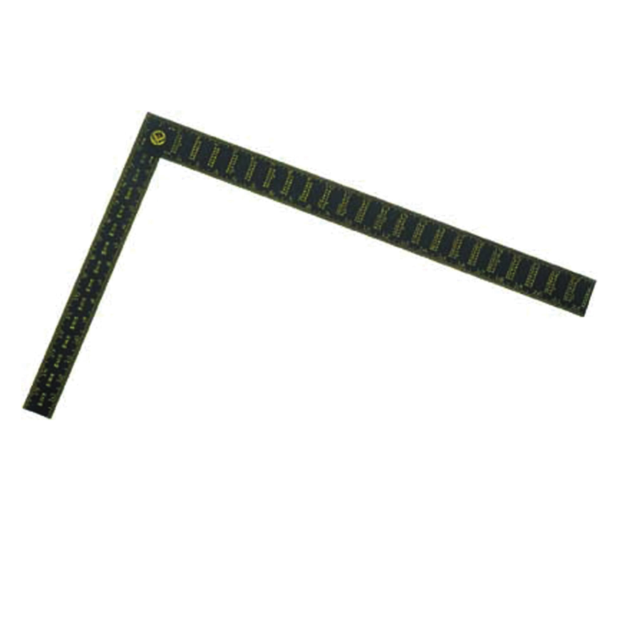 Stanley® 45-011 Premium Rafter Square, 16 x 24 in, 1/16 in, 1/8 in Face, 1/16 in, 1/8 in, 1/12 in Back Graduation, 16 x 1-1/2 in Tongue, Aluminum