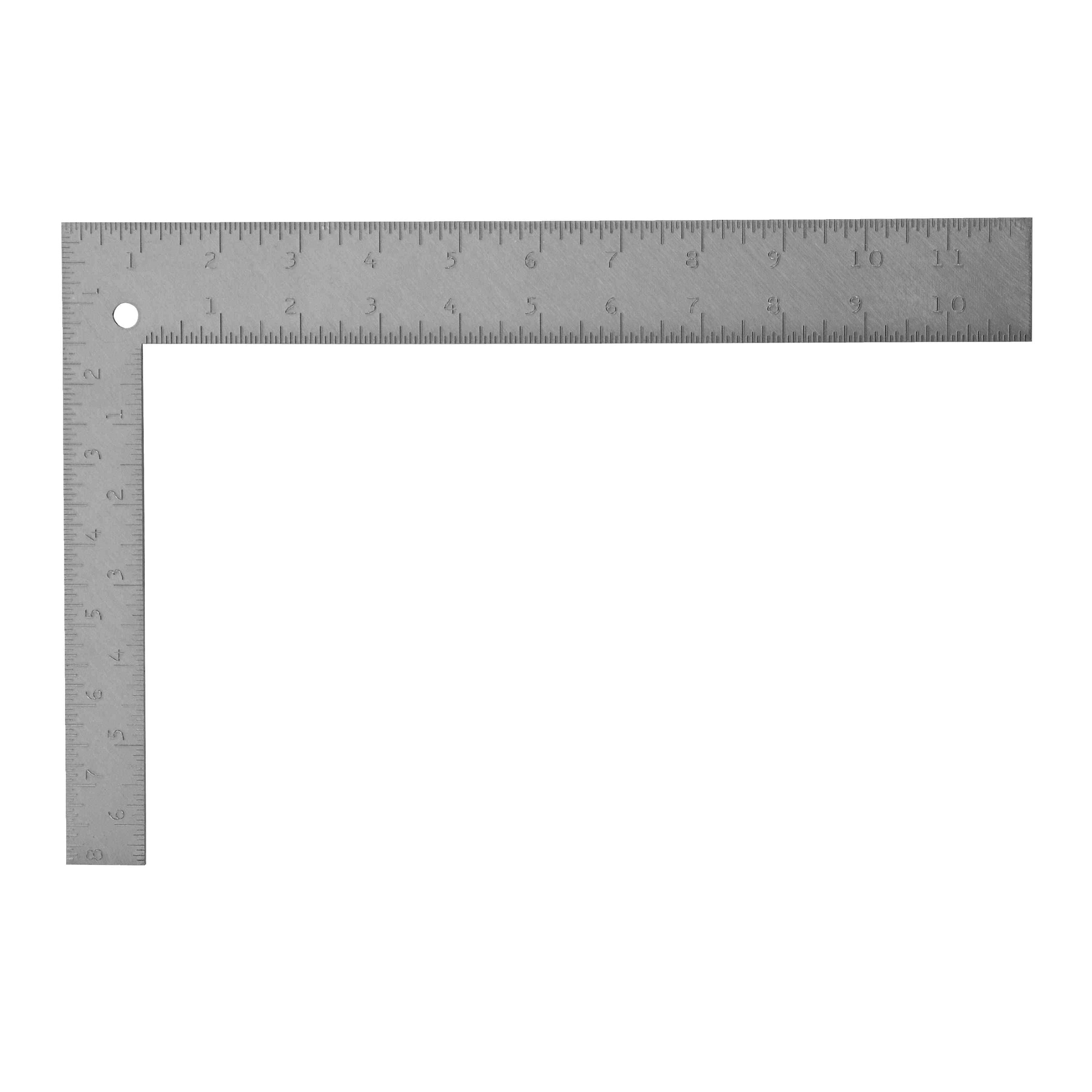 Stanley® 45-912 Carpenter's Square, 12 x 1-1/2 in, 1/16 in Face/Back Graduation, 8 x 1 in Tongue, Steel