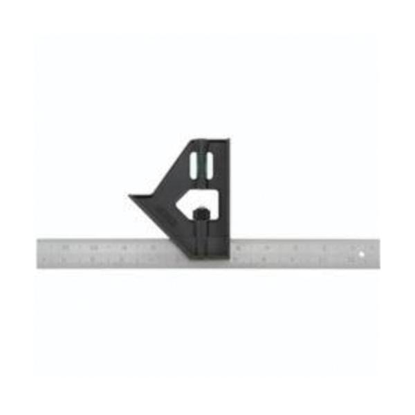 Stanley® 46-012 Combination Square, 12 in L, 1/32 in, 1/16 in, 1/8 in Graduation, 45/90 deg, Plastic