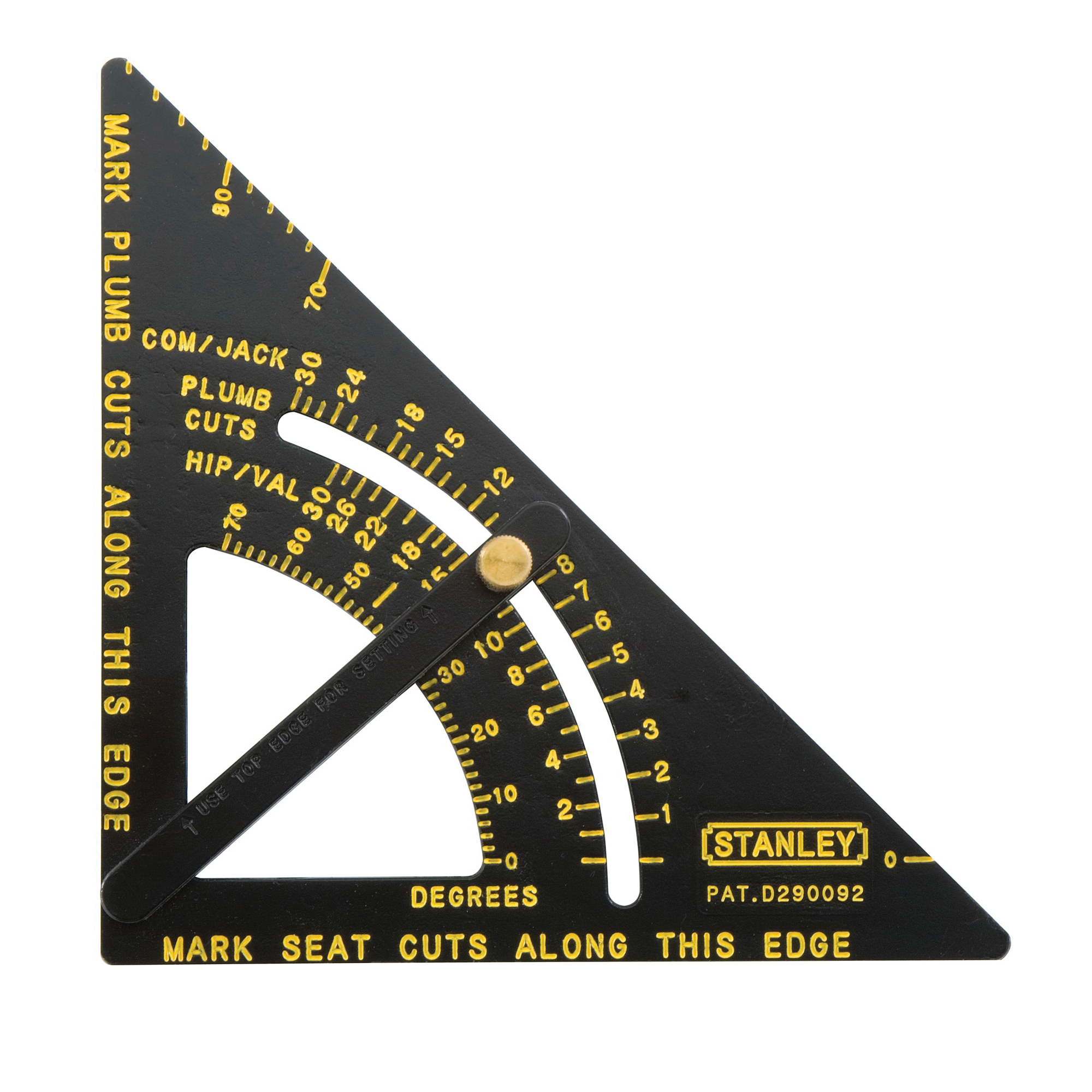Stanley® 46-053 Quick Square® Adjustable Premium Layout Tool, 10-3/4 x 6-3/4 in, 1/8 in Graduation, 90 deg, Aluminum
