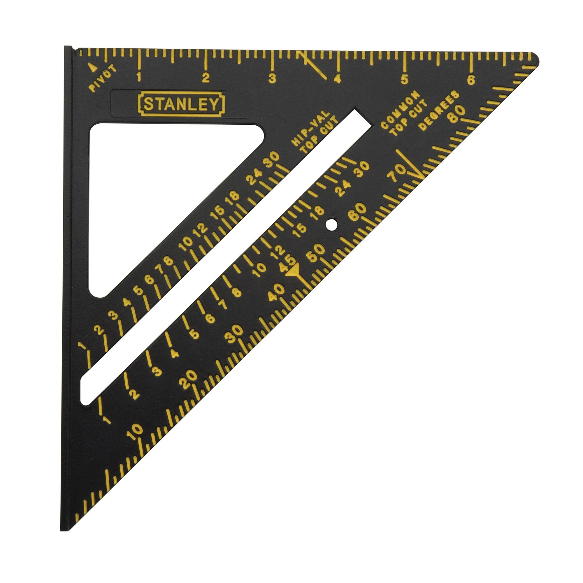 Stanley® 46-071 Quick Square® Premium Triangle Layout Tool, 10-1/4 x 6-7/8 in, 1/8 in Graduation, 90 deg, Aluminum