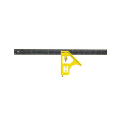 Stanley® 46-123 Premium Combination Square, 2 Pieces, 12 in L x 1 in W, Steel Blade, Square Head
