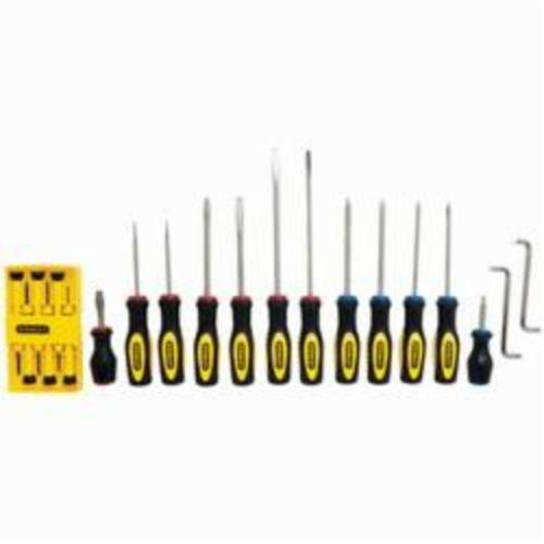 Stanley® 60-220 Screwdriver Set, Imperial, 20 Pieces, Alloy Steel, Nickel Plated