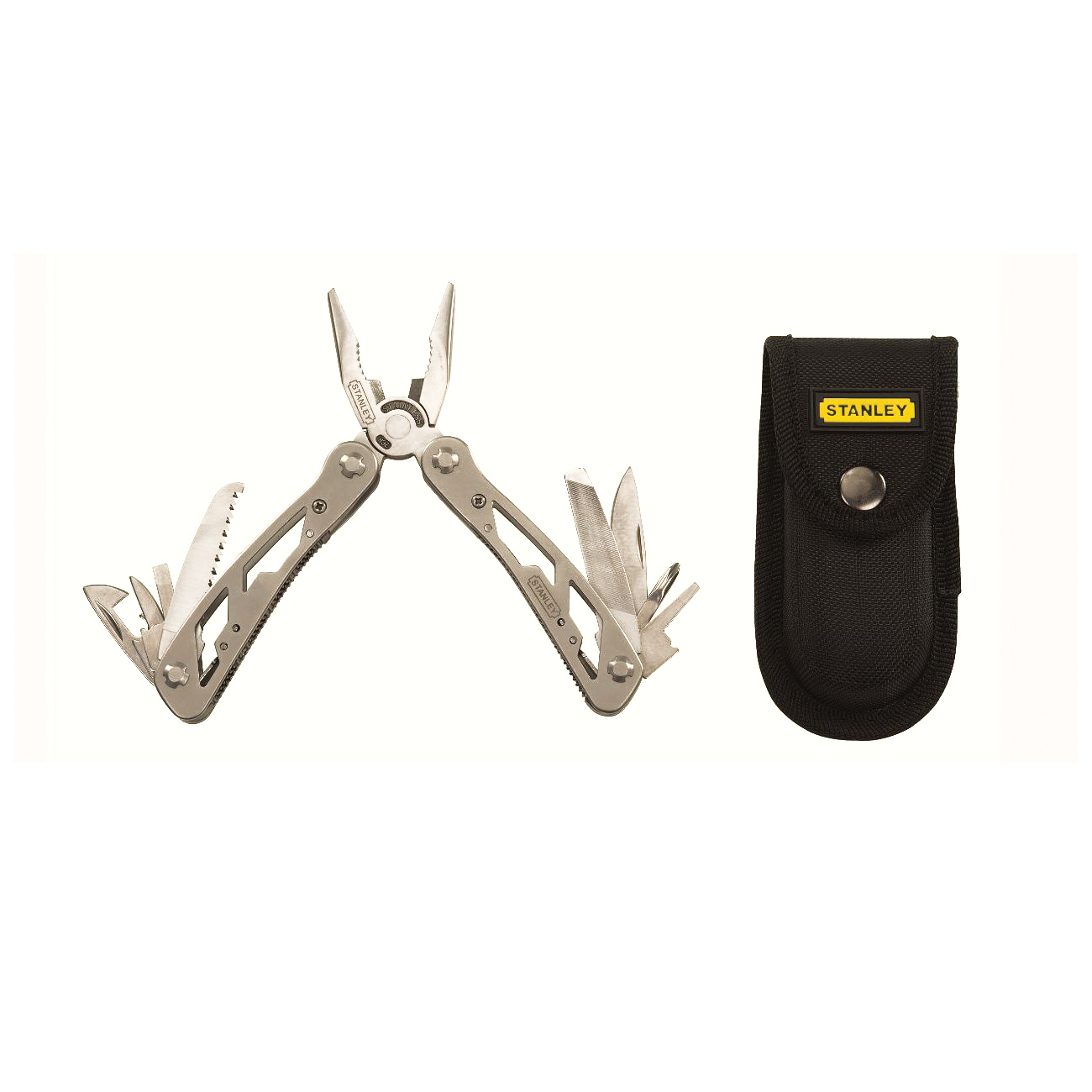 Stanley® 84-519K 12-in-1 Multi-Tool With Nylon Holster, Plier, 12 Tools, 12 Functions, 4-1/4 in L Closed