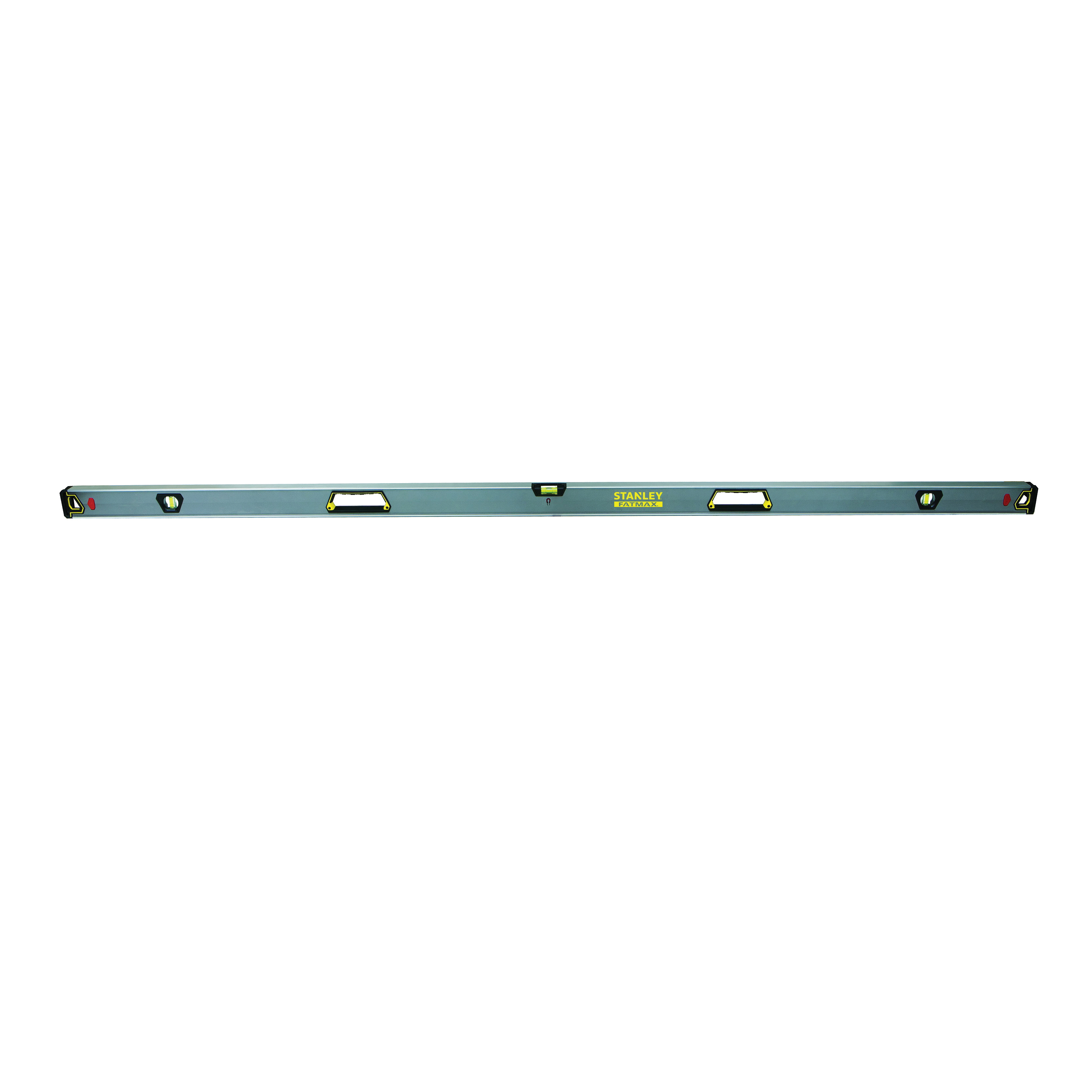 Stanley® FatMax® FMHT42407 Magnetic Premium Box Beam Level, 78 in L, 3 Vials, (1) Level/(2) Plumb Vial Position, 0.0005 in, Aluminum