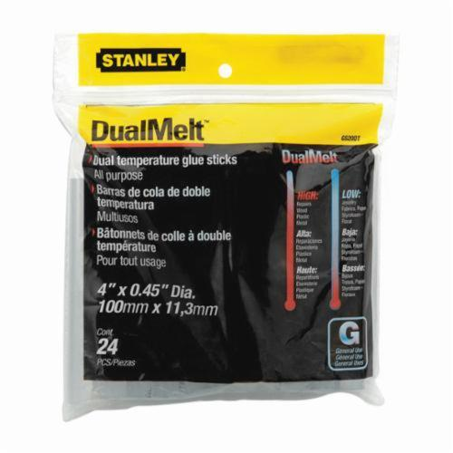 Stanley® GS20DT DualMelt™ All Purpose Dual Temperature Glue Stick, 0.45 in Dia x 4 in L, 365 deg F