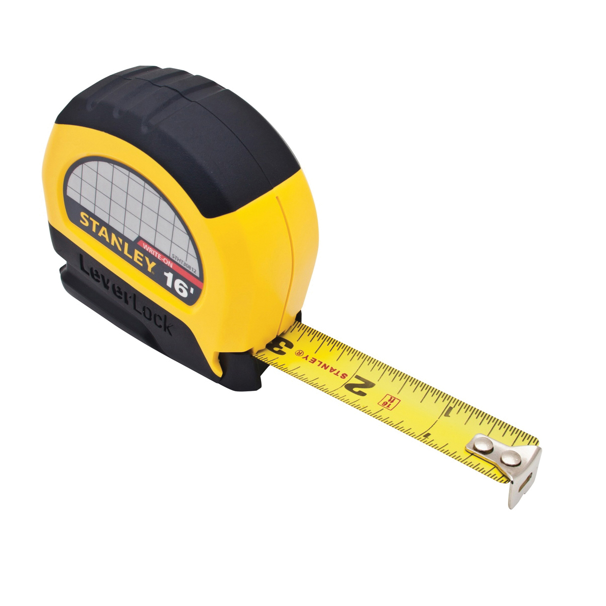 Stanley® LeverLock® 30-812 Tape Rule, 6 ft L x 3/4 in W Blade, Steel, Imperial