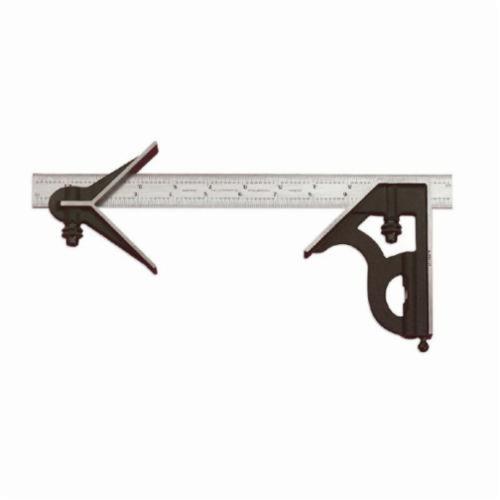 Starrett® C11HC-12-4R Combination Square Set, 3 Pieces, 12 in L, Hardened Steel Blade, Square/Center Head