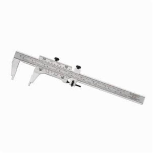 Starrett® 123-6 Master Vernier Caliper Without Case, 0 to 6 in, Graduation 0.001 in, 1-9/16 in D Jaw, Fine Tool Steel, Satin Chrome
