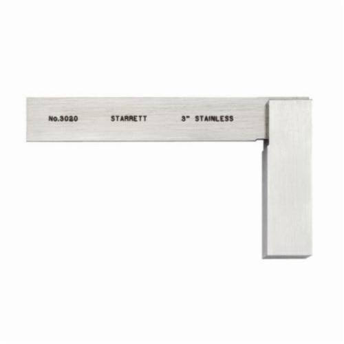 Starrett® 3020-3 Non-Graduated Toolmakers Grade Solid Square, 2-31/32 in, 35/64 in Tongue, Stainless Steel