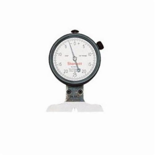 Starrett® 643JZ Dial Depth Gage, 0 to 1/8 in, 0.0005 in Graduation, Steel