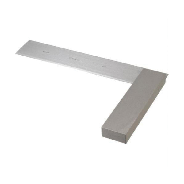 Starrett® 55-6 55 Series Non-Graduated Master Precision Square With Beveled Edge, 6 in, 6-1/16 x 1-9/32 in Tongue, Hardened Steel