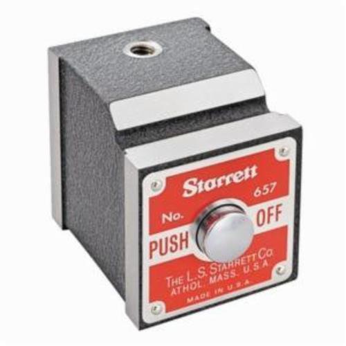 Starrett® 657P Magnetic Base, 100 lb, 1-15/16 in L x 1-5/8 in W x 1-7/8 in H Base