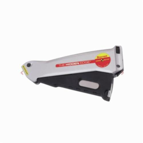 Starrett® S011 Utility Knife, Hidden Edge Blade, Quick-Change Button