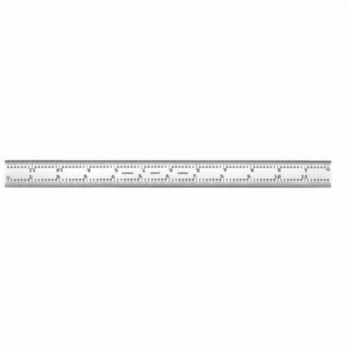 Starrett® B12-16R Combination Square Blade, 12 in Carbon Steel Blade, 1 Pieces, #16R - Quick-Reading 32nds, 64ths, Aircraft Quick-Reading 50ths, 100ths