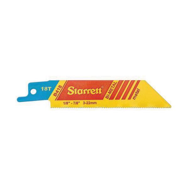 Starrett® B418-2 Fastcut™ 790 General Purpose Reciprocating Saw Blade, 4 in L x 3/4 in W, 18 TPI, Bi-Metal Body, Toothed Edge Tang