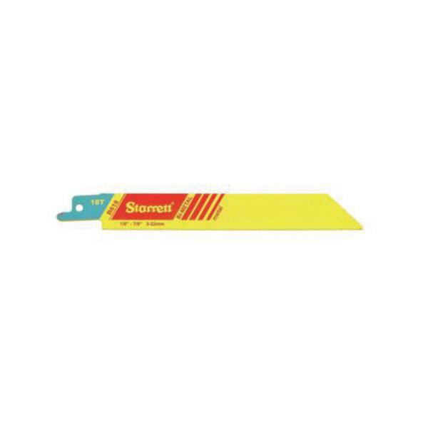 Starrett® B618-2 Fastcut™ 790 General Purpose Reciprocating Saw Blade, 6 in L x 3/4 in W, 18 TPI, Bi-Metal Body, Toothed Edge Tang
