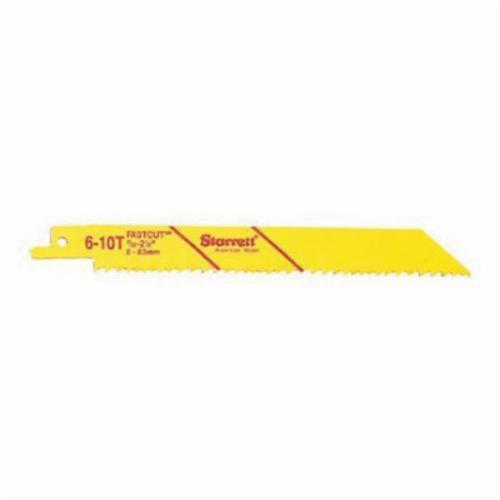 Starrett® B818-5 Fastcut™ 790 General Purpose Reciprocating Saw Blade, 8 in L x 3/4 in W, 18 TPI, Bi-Metal Body, Universal/Toothed Edge Tang