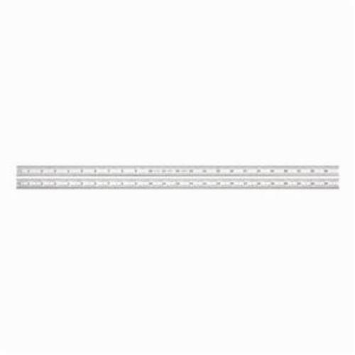 Starrett® C316R-24 Precision Rule, Imperial, Graduations 16R - Quick-Reading 32nds, 64ths, Aircraft Quick-Reading 50ths and 100ths, Full-Flexible Steel, Satin Chrome